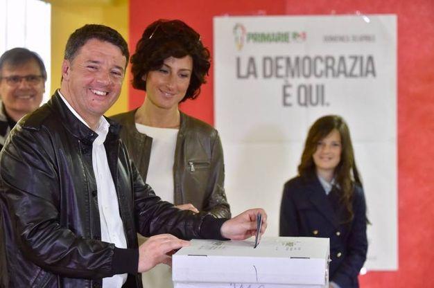Matteo Renzi e la moglie Agnese a Pontassieve