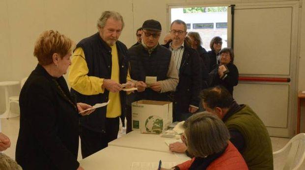 Il voto a Grosseto (Foto Aprili)