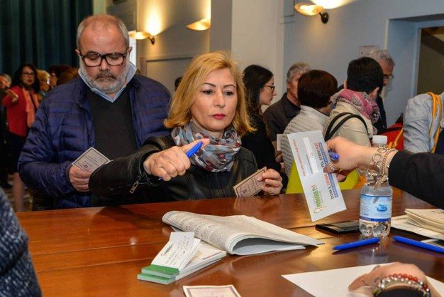Gli iscritti (circa 2150 in Polesine) ma anche i non iscritti possono esprimere la propria preferenza ai tre candidati (foto Donzelli)