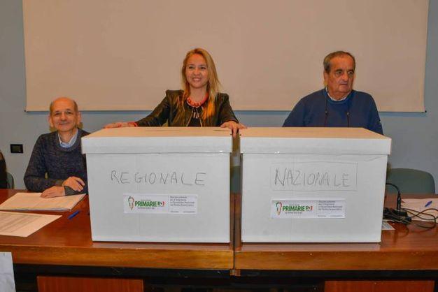 Renzi, Emiliano e Orlando si contendono la segreteria nazionale e regionale del Partito democratico (foto Donzelli)