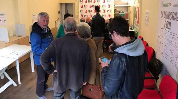 Sezione Centro, in fila per votare