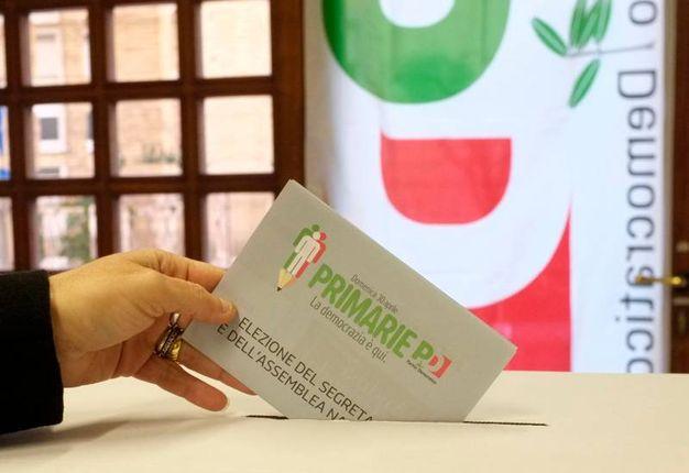 La scheda per il voto alle primarie pd (foto Calavita)