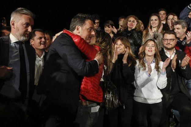 Primarie Pd, Matteo Renzi nella sede del Pd (Ansa)