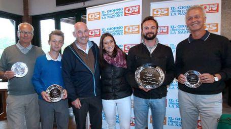 I premiati del Qn Golf Challenge con l'Editore Andrea Riffeser Monti