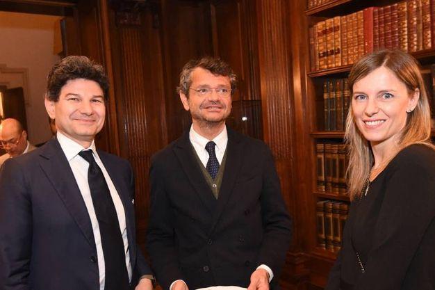Andrea Segrè con due ospiti (Schicchi)