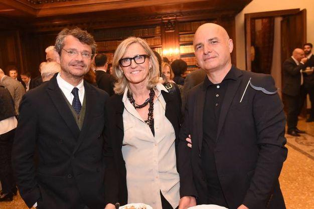 Andrea Segrè con alcuni ospiti (Schicchi)
