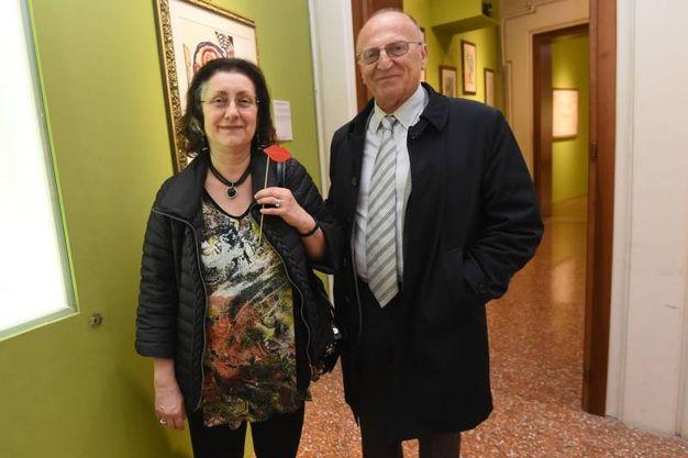 A sinistra Lucia Gazzotti e a destra Piero Scandellari  (Schicchi)