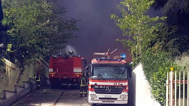 Incendio a Pomezia (Ansa)