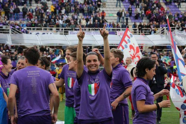Fiorentina Womens, festa per lo scudetto (Germogli)