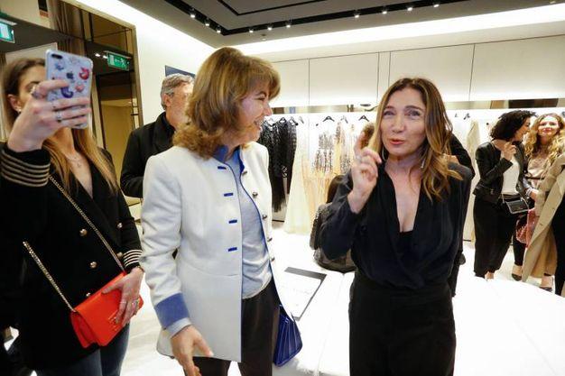 La stilista Elisabetta Franchi all'apertura della boutique del suo marchio (fotoSchicchi)