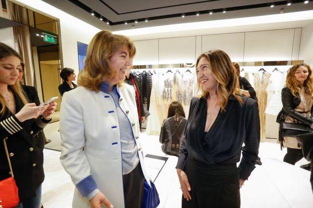 La stilista Elisabetta Franchi alla festa di apertura della boutique (fotoSchicchi)