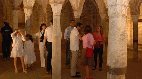 L'interno della bella cripta