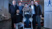 Raffaello Molino-Lova, Peppino Tropea, Nicola Vitiello, Silvestro Micera, Vito Monaco, Andrea Parri (foto Hillary Sanctuary / EPFL)