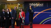 L'inaugurazione della nuova sede di Whirlpool Emea (Imagoeconomica)