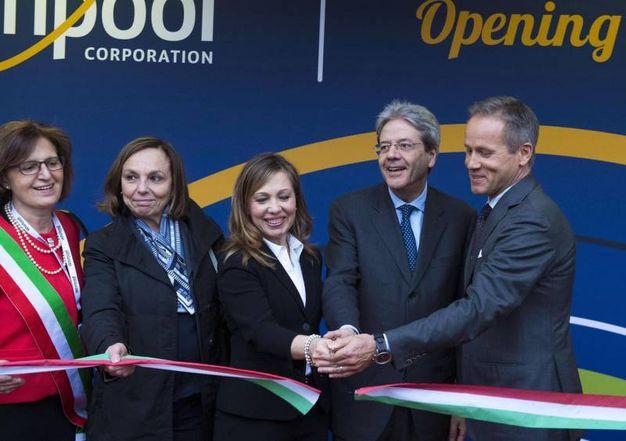 L'inaugurazione della nuova sede di Whirlpool Emea (Ansa)