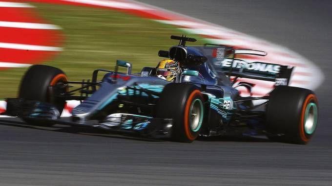 Gp Spagna 2017, Lewis Hamilton (Ansa)