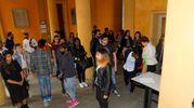 Nel palazzo Allende, sede della Provincia, si sono tenuti i provini per il prossimo film di Ligabue (foto Artioli)