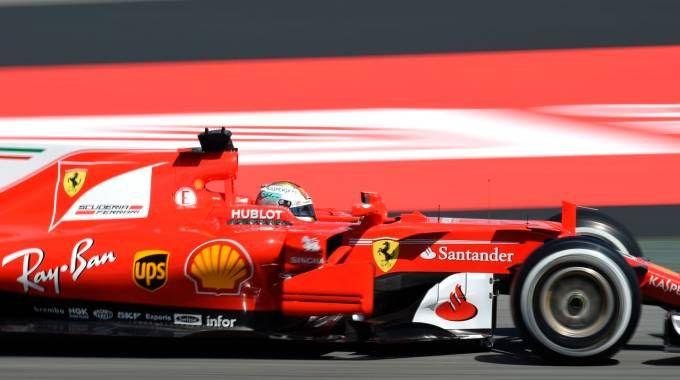 Gp di Spagna 2017, Sebastian Vettel in azione (Afp)