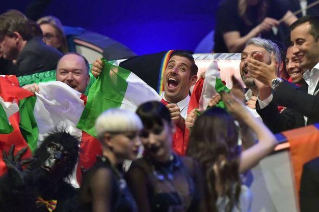 Gabbani durante il voto (Afp)