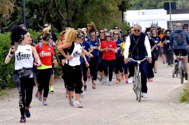 Alcuni momenti del workout street (Foto Novi)