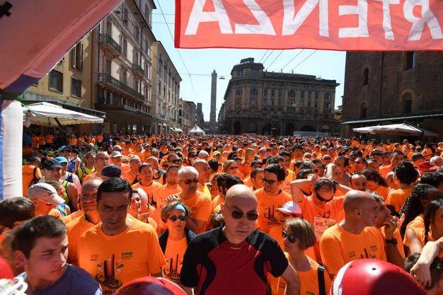 Tante magliette arancioni hanno colorato la città (fotoSchicchi)