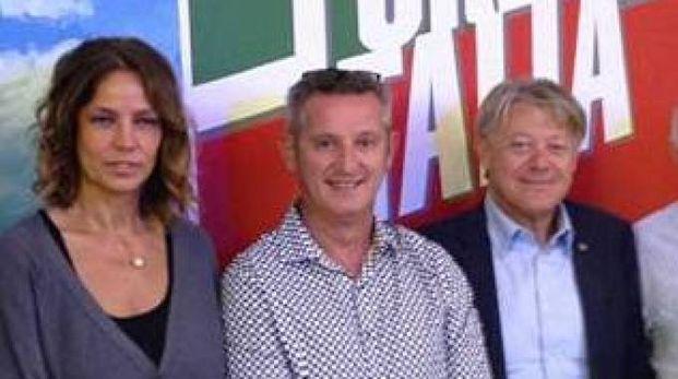 Roberto Luppi nel dicembre del 2016 al centro nella foto con Elisabetta Gardini e Bartolomeo Amidei