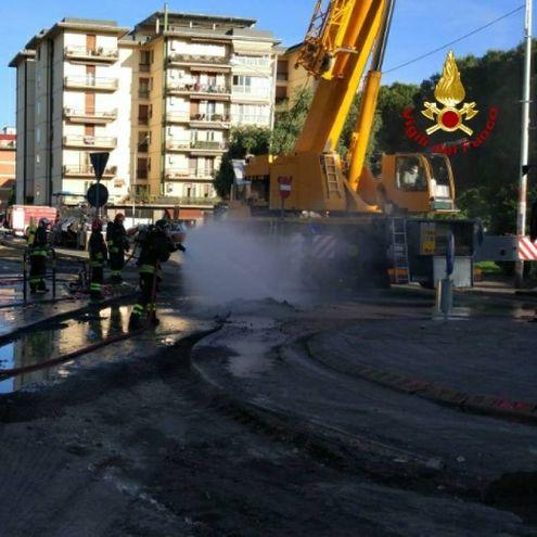 L'intervento dei vigili del fuoco