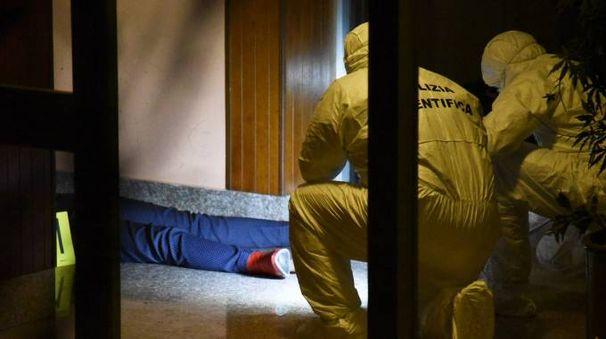 Un'immagine della notte dell'omicidio
