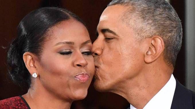 Obama con la moglie Michelle