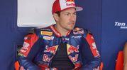 Nicky Hayden in gara nella Superbike a Imola (Foto Lapresse)