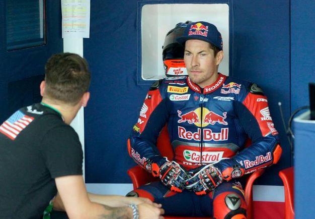 Nicky Hayden a Imola per la Superbike (Foto Lapresse)
