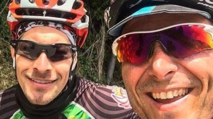 Nicky Hayden con Denis Pazzaglini
