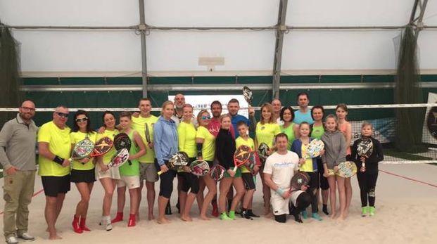 Il gruppo di atleti lettoni e gli istruttori grossetani