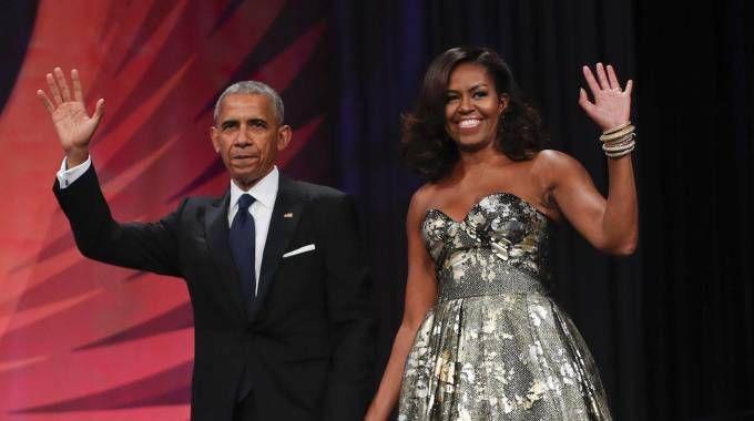 Barack e Michelle Obama (Ansa)