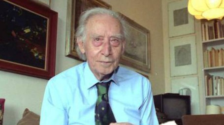 Il poeta Mario Luzi, nato nel 1914 e morto nel 2005.