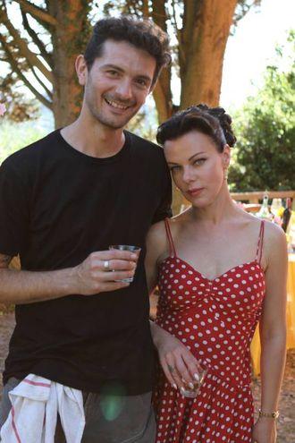 Gabriele Corcos e Debi Mazar (credits: Chuck Kaiton)
