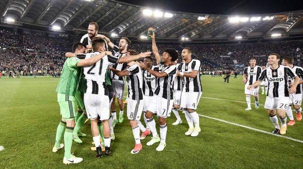 La festa bianconera per la vittoria della Coppa Italia