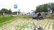 Il pauroso incidente avvenuto questa mattina alle porte di Ravenna  (Foto Scardovi)