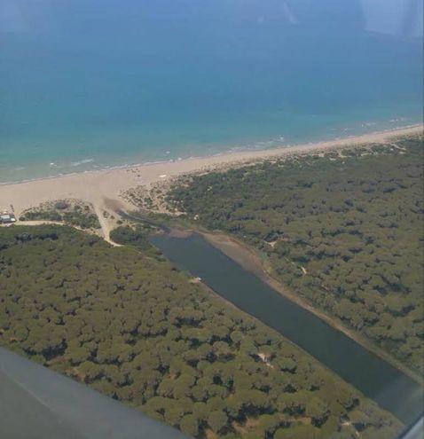 La costa della Maremma vista dal Siai Marchetti 208