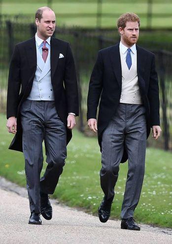 I principi William e Harry (Afp)