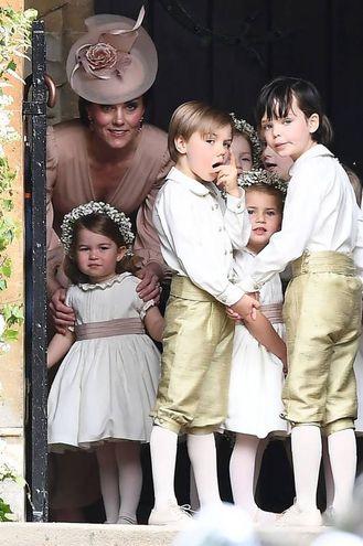 Damigelle e pagetti, tra loro anche la principessina Charlotte (Afp)