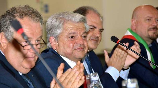 Massimo Bulbi, Giancarlo Guidi, il sottosegretario Castiglione e Davide Drei