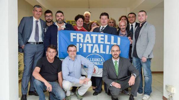 La squadra di Fratelli D'Italia