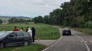 Il punto della strada Chiaravallese dove è stato trovato morto il veterinario di Macerata, Olindo Pinciaroli (foto Santini)