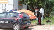 L'ambulanza veterinaria era a ridosso di un canneto lungo la strada Chiaravallese, fra Osimo e Polverigi (foto Antic)