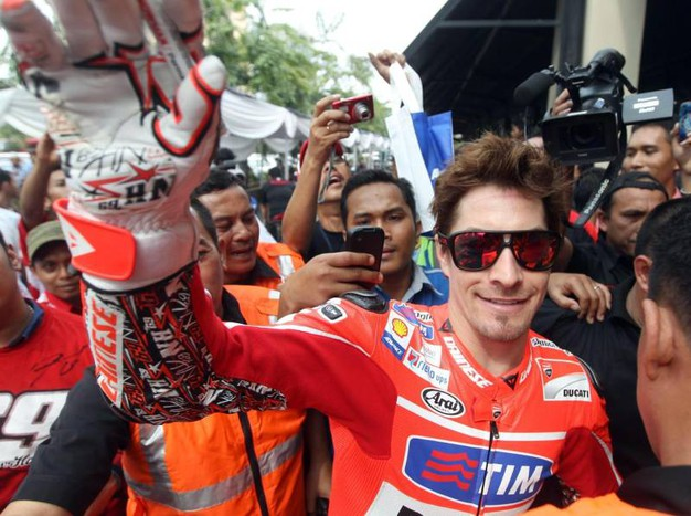 Nel team Ducati nel 2013 (Ansa)