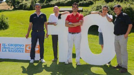 PROTAGONISTI Il nostro editore Andrea Riffeser Monti (secondo da sinistra) con Marco Maiani, Luca Ascani, Serena Nobili e Guido Bellucci