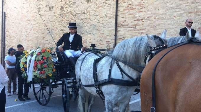 Il carro funebre (foto De Marco)