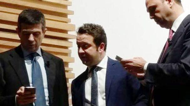 Giuseppe Procopio con Maurizio Lupi e Angelino Alfano