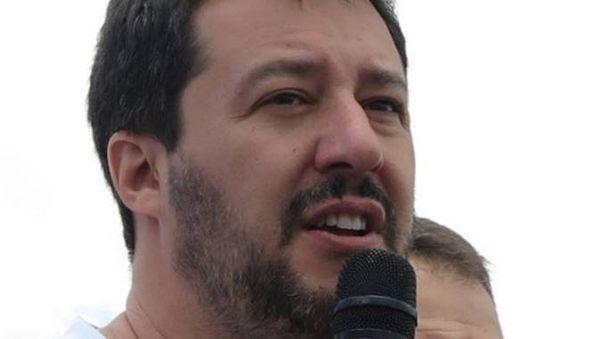 Il leader della Lega Nord Matteo Salvini (foto Petrangeli)